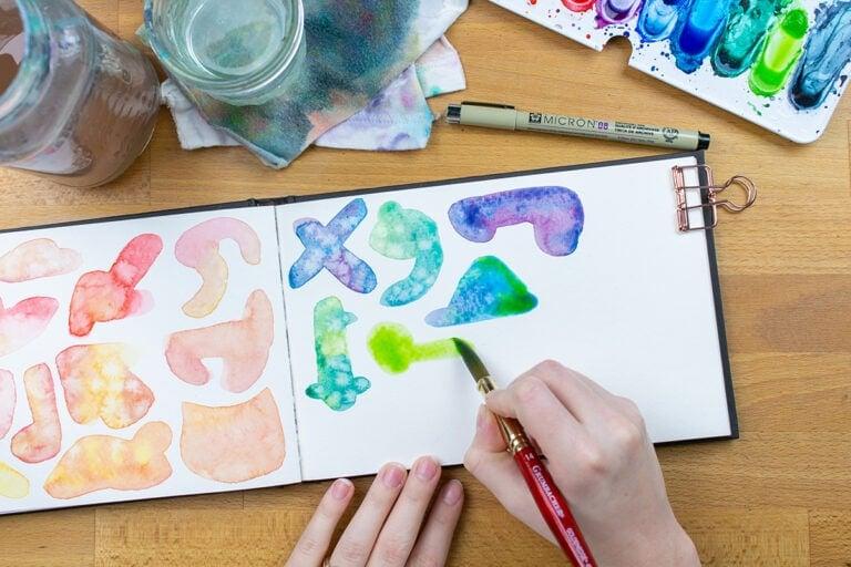 Watercolor Doodles – How to Loosen Up and Break Artist's Block