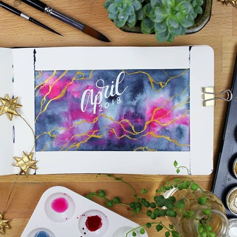 30+ April Bullet Journals – Themes to Brighten Your Month