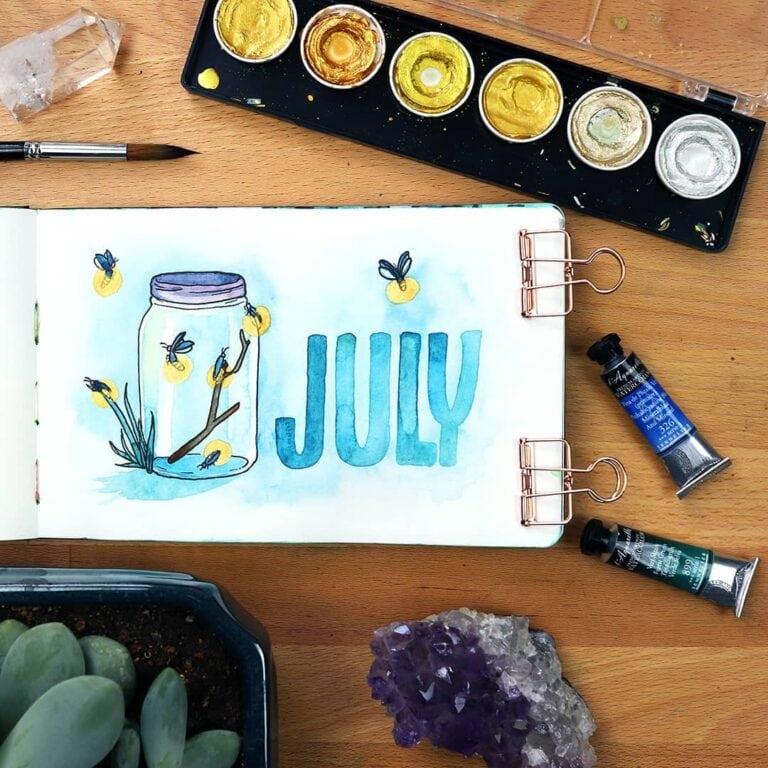 30+ July Bullet Journals – Enjoy the Summer Weather