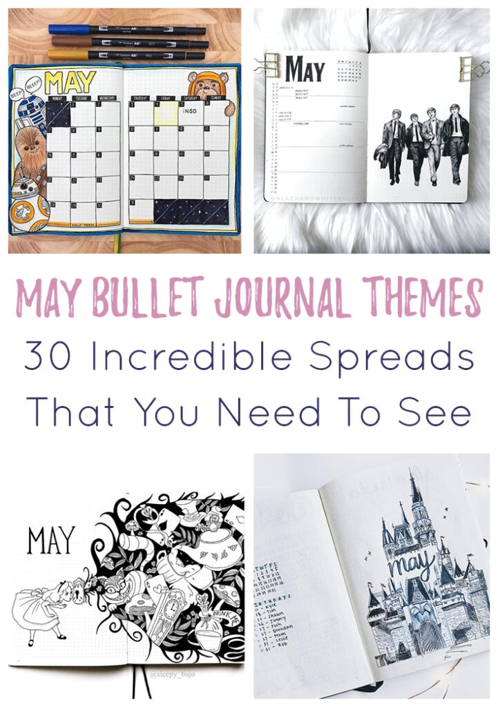 May Bullet Journal Themes Cover Photo & Pin