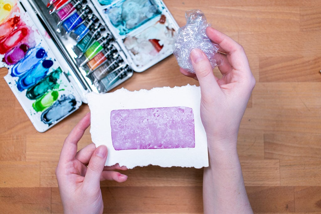 Plastic Wrap with Watercolor