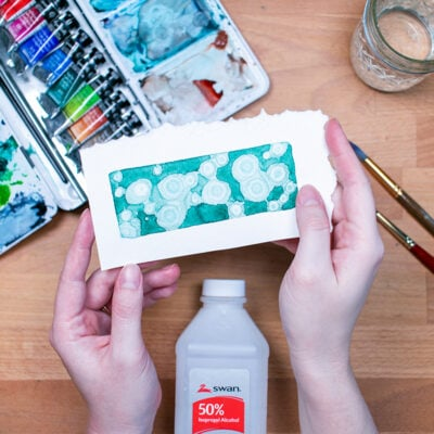 Rubbing Alcohol Watercolor Texture