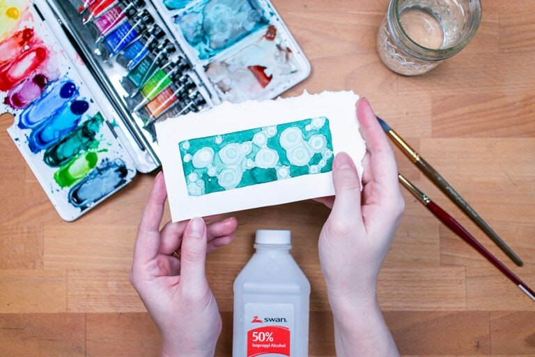 5 Easy Watercolor Textures Using Household Items
