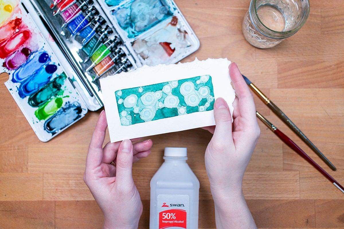 Rubbing Alcohol Watercolor Texture