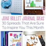 June Bullet Journal Cover Photo & Pin