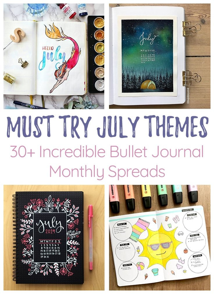 Jully Bullet Journal Themes Cover Photo & Pin