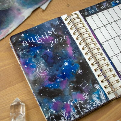 Whimsical Night Sky Illustration — Bullet Journal Setup