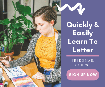 Hand Lettering Email Course Sign Up