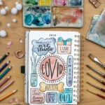 2020 memories lettered into journal