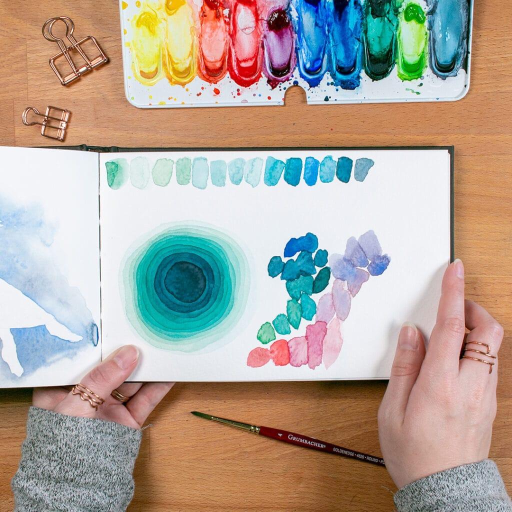 color palette doodles
