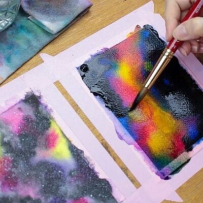 How to Paint Watercolor Galaxies