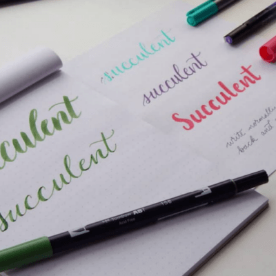 How to Easily Write Faux Calligraphy