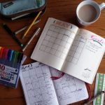 Setting up a new month in the bullet journal May Calendars | LIttlecoffeefox.com