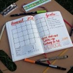 The monthly planner is a workhorse in the bullet journal, where it helps keep me on my big picture goals. Check out my August monthly planner to see what I