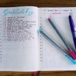Working on filling out my gratitude log!